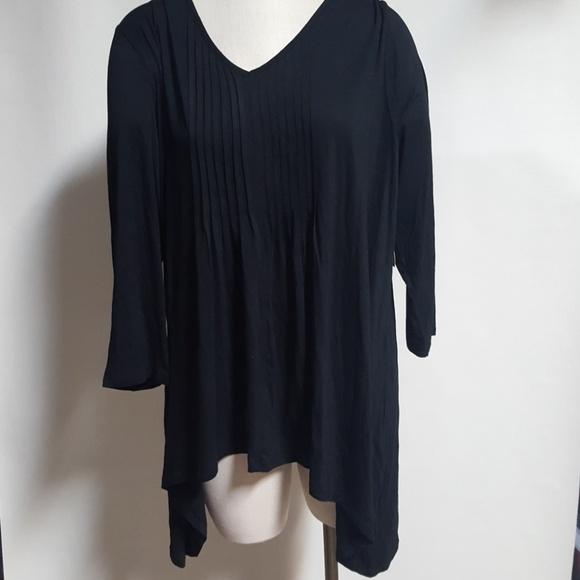 196d75b0039 Simply Emma Black shark Bite tunic Shirt